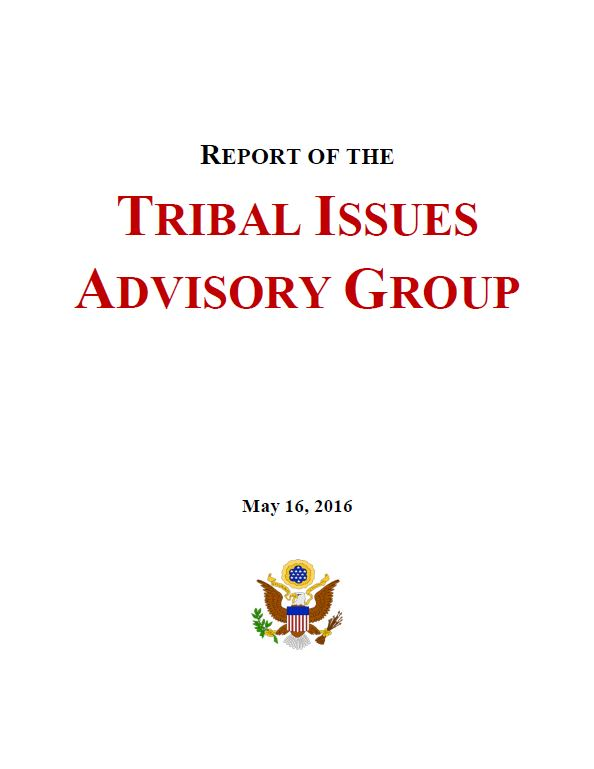 report of the tribal issues advisory group united states  2016 recidivism study overview