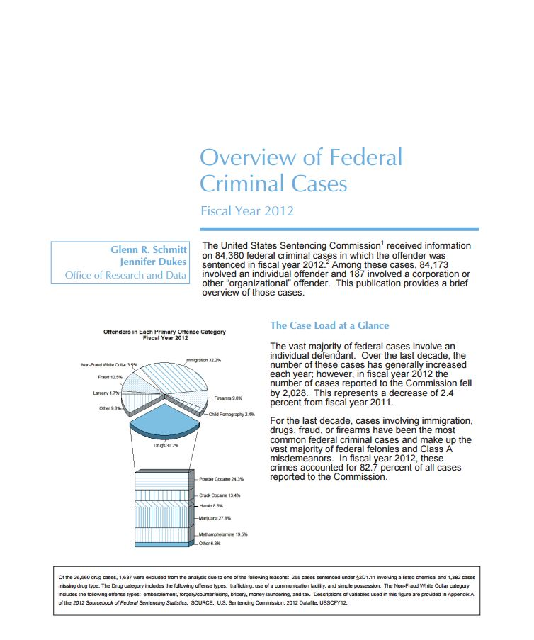 FY 2012 Overview of Federal Criminal Cases